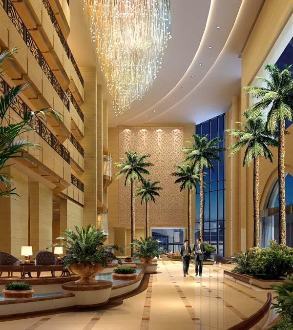 大厅; 酒店大堂设计以欧式风格为主线;